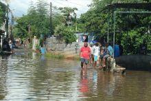 Fortes pluies orageuses : maisons inondées dans la région de Bambous