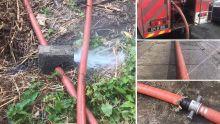 Tuyau d'incendie percé lors d'un incendie à Port-Louis : les pompiers n'y ont vu que du feu