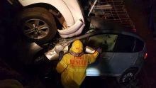 Beau-Bassin : spectaculaire accident aux petites heures entre un 4X4 et une voiture