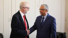 Chagos : Jeremy Corbyn réitère son soutien à Maurice lors d'une rencontre avec Pravind Jugnauth