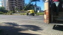Un rickshaw aperçu à Ebène
