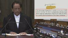 Chagos : l'intégralité de la déclaration de SAJ à La Haye