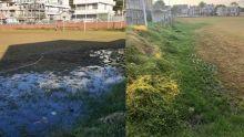 Vallée-Pitôt : fuite d'eaux usées à côté de l'école primaire Sunee Surtee