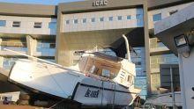 Saisie record de drogue : l'Islander, l'un des bateaux des Gurroby, dans l'enceinte du bâtiment de l'Icac