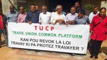 Lois du travail : la Trade Union Common Platform refuse de revenir à la table des négociations avec le patronat