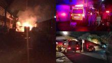 La Tour Koenig : incendie dans la cour de l'entrepôt d'une usine, des habitants évacués