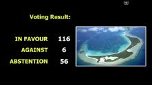 [Breaking news] Chagos : la majorité des pays membres des Nations Unies votent en faveur de la résolution de Maurice