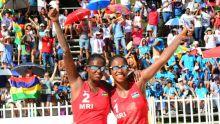 JIOI - Beach-Volley féminin : la paire mauricienne remporte son premier match contre les Réunionnaises