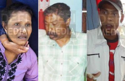 Karuna Auckloo, Danand Auckloo et Akash Auckloo.