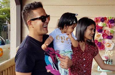 Le directeur et sa petite famille.