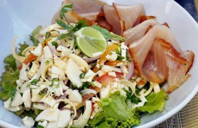 Salade de marlin fumé
