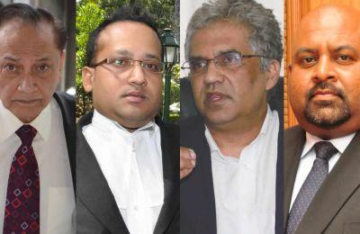MesYousuf Mohamed, Erickson Mooneeapillay, Rama Valayden et Neelkanth Dulloo.