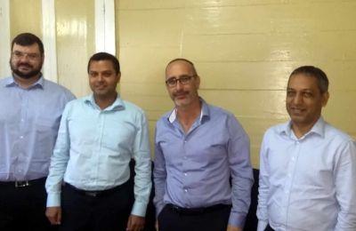 De gauche à droite: Rudi Dicks, Krishna Radhakeesoon de BDO Maurice, David Cohen et Feizal Jownally de BDO Maurice.