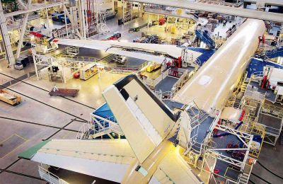 First Air Mauritius A350 XWBtakes shape on assembly line