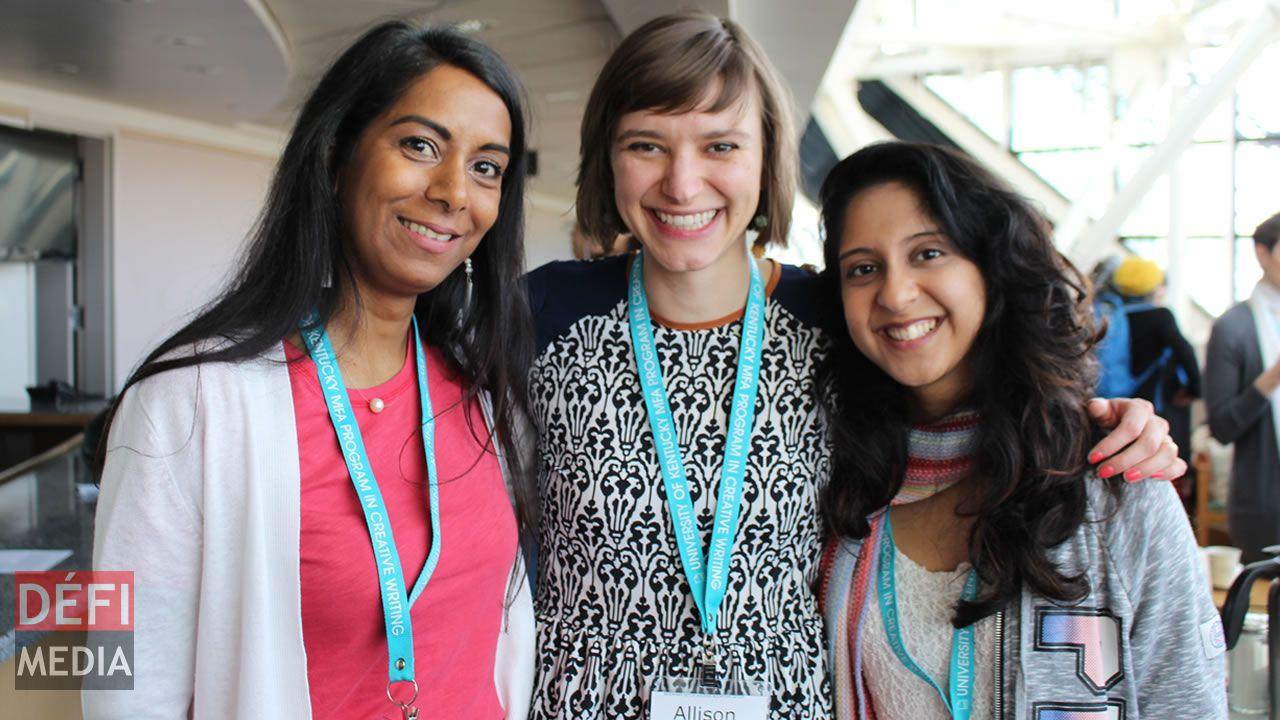 Nirmala Priya Devi Hein, Allison Gnade, de la University of Iowa, et Haddiyyah Athena Tegally.