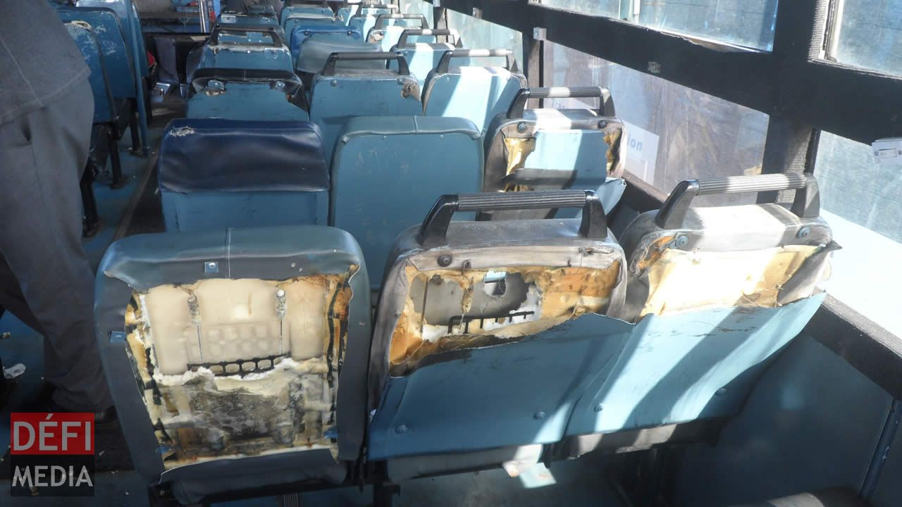Autobus saccagé