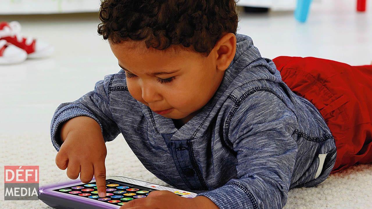 Des tablettes signées Fisher Price V-tech dès leur plus jeune âge.