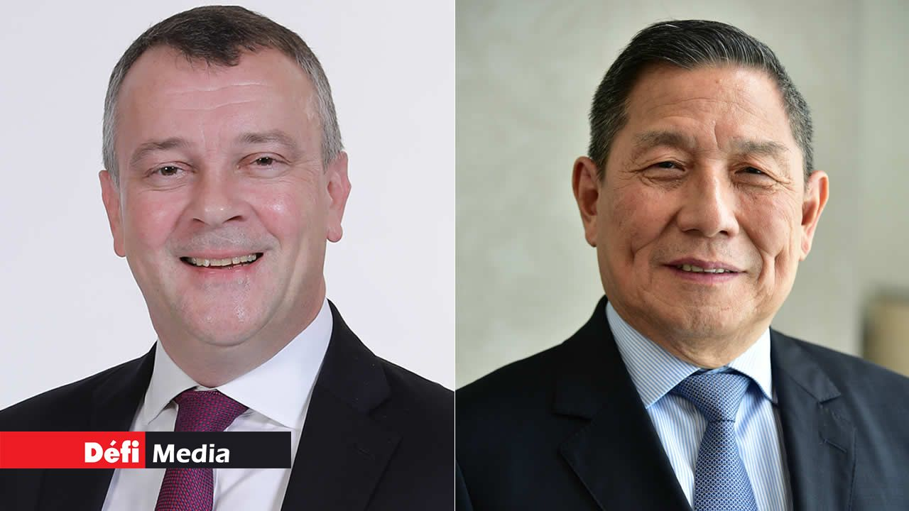 Andrew Bainbridge et Kee Chong Li Kwong Wing.
