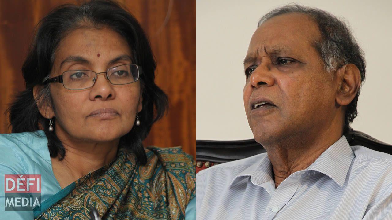 Vijaya Teelock et Sadaseeven Reddy.