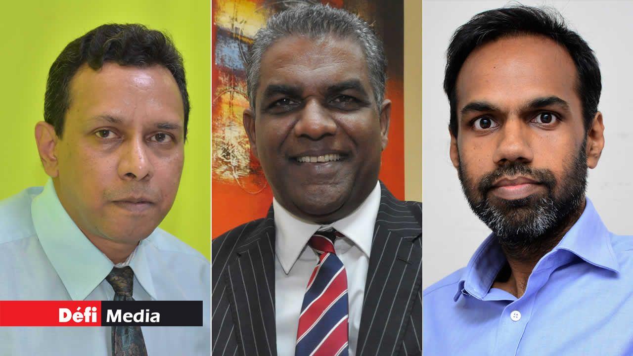 Rajen Bablee, Dev Erriah et Arvin Halkhoree.
