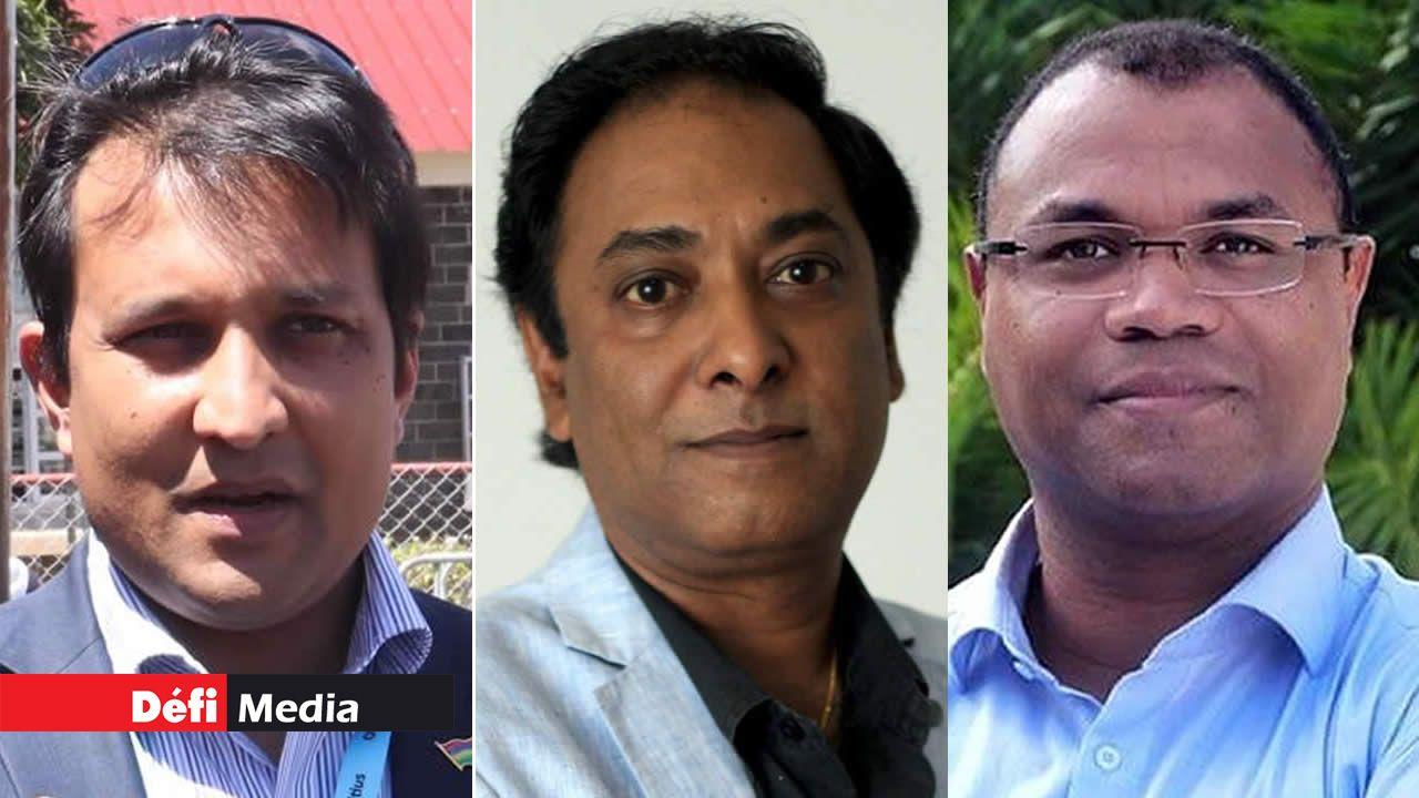 Yuvan Beejadhur, Dev Sunnassy et Patrick Belcourt.