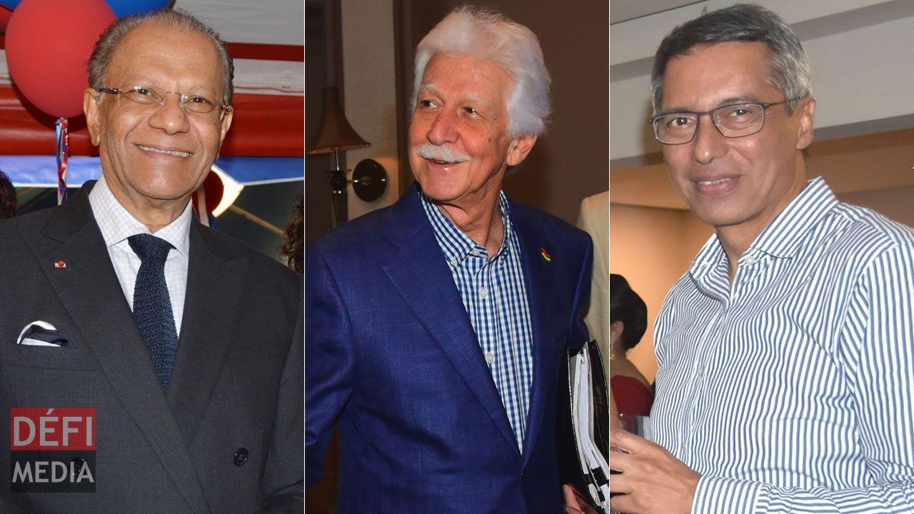 Navin Ramgoolam, Paul Bérenger et Xavier-Luc Duval.