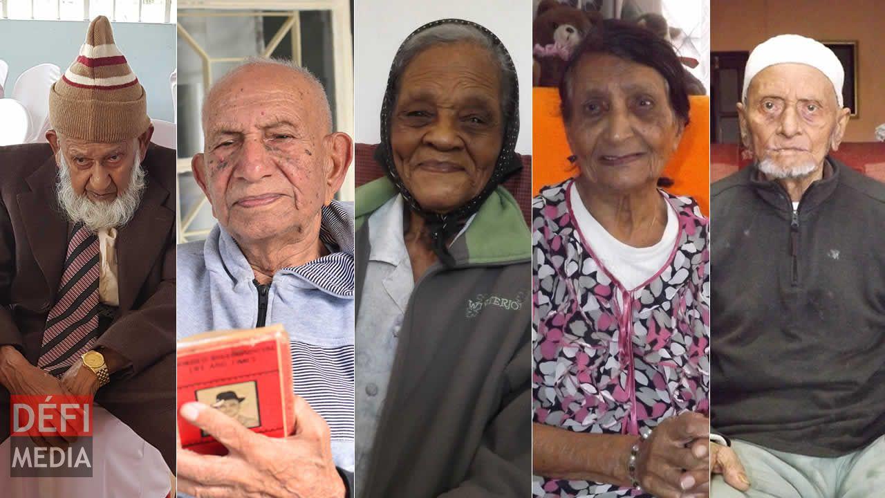 Hossen Ibrahim, Ramdewor Mangru, Lorenza Elizabeth, Renée Marie et Mamoud Jaynool Purdasy