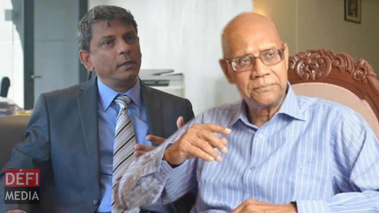 Raj Dhaliah, président de la STC et Swaley Kassenally