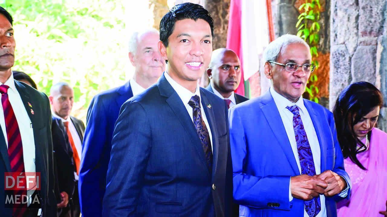 Andry Rajoelina et Vishnu Lutchmeenaraidoo