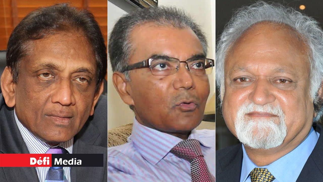 Sateeaved Seebaluck, Milan Meetarbhan et Vijay Makhan.