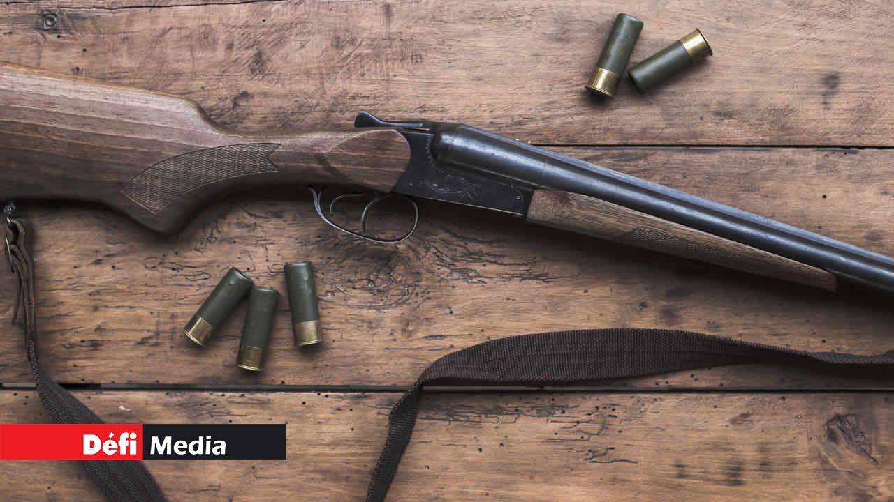 fusil de chasse et de munitions