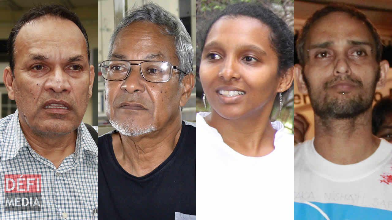 Dr Raja Madhewoo, Jack Bizlall, Aicha Soogree et Jeff Lingaya