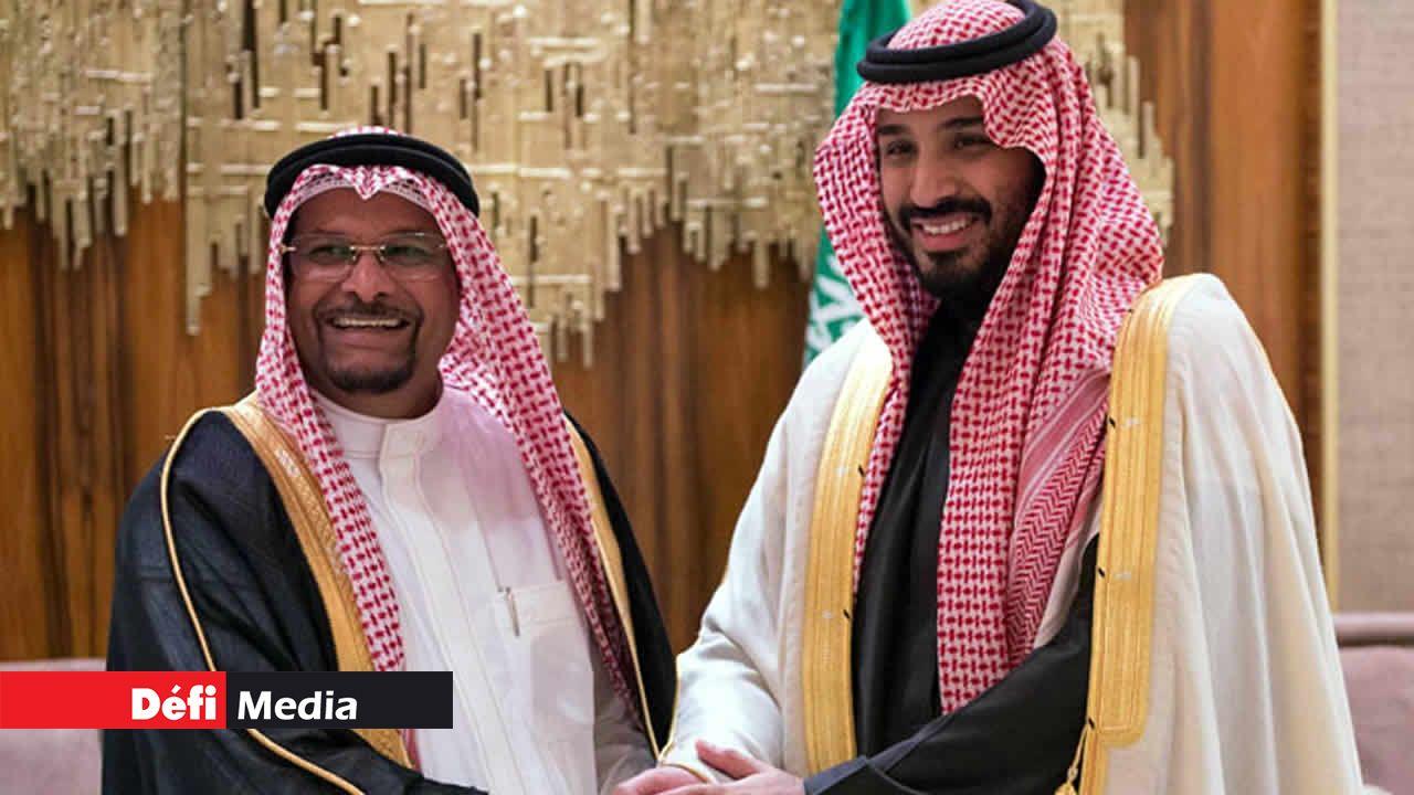 Showkutally Soodhun et le prince héritier saoudien Mohammed bin Salman.