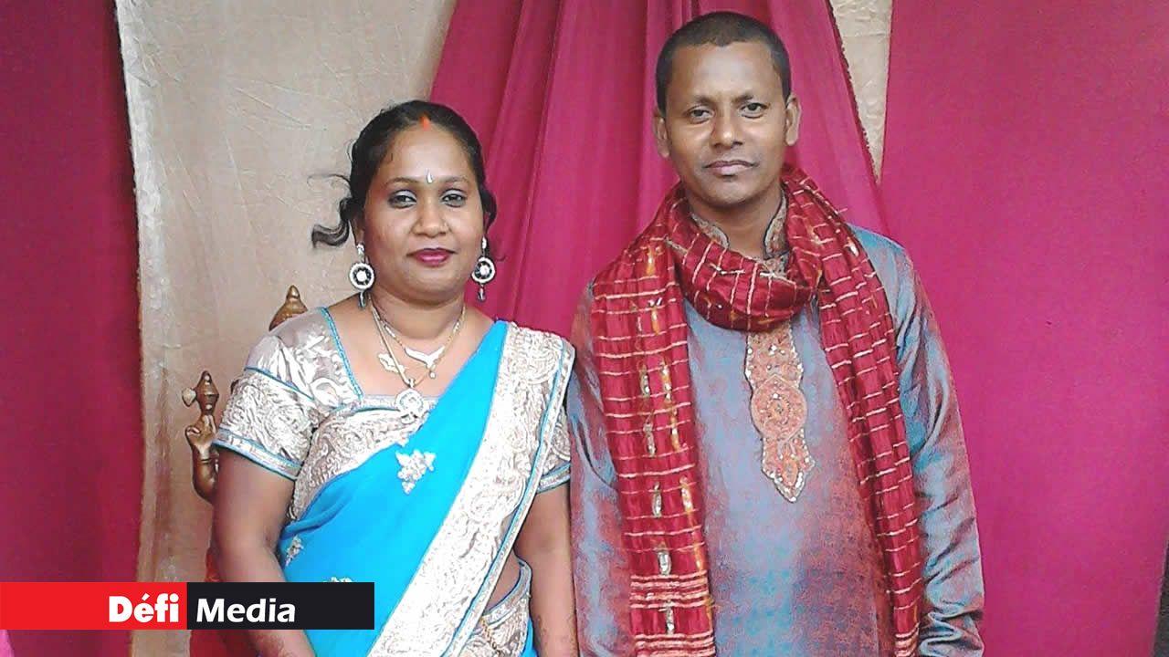 Rajesh Domun et son épouse