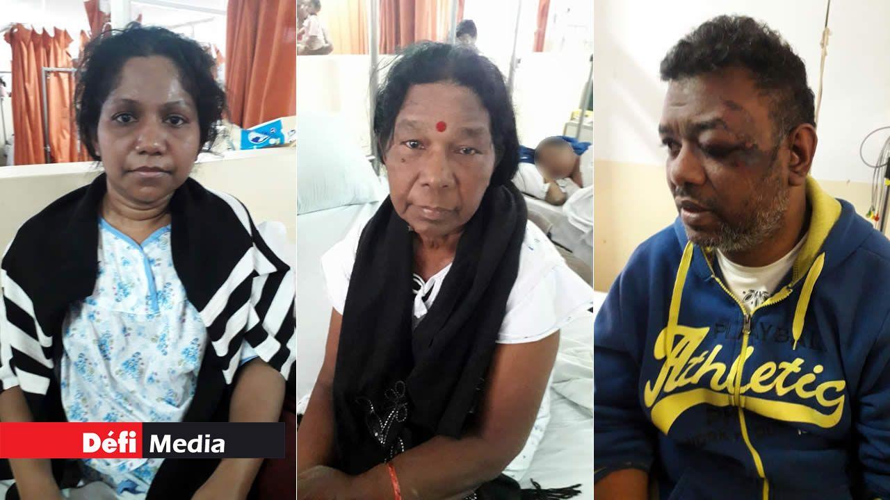 Rajinee, Sourah et Vishal Samonakoo.