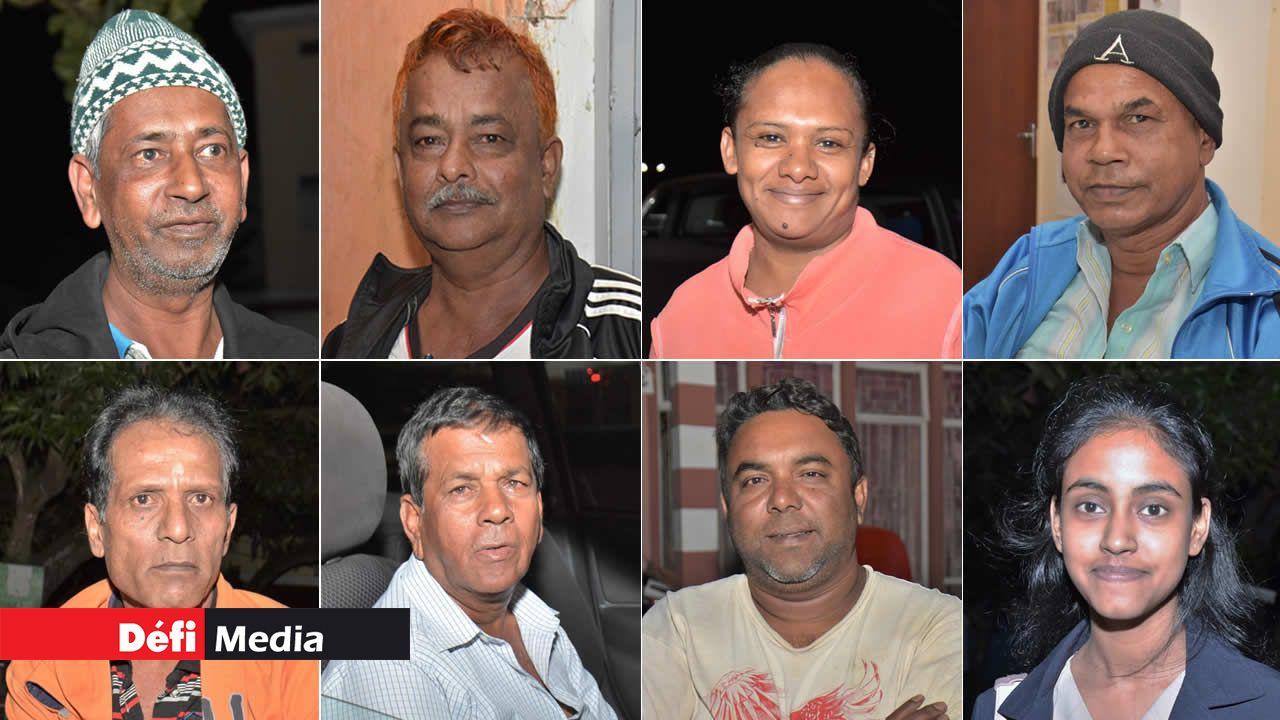 Goolam, Gorah, Isabelle, Mansoor, Mookesh, Pravin, Vikram et Zainap.