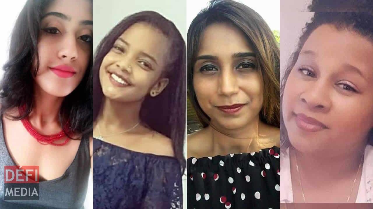 Jemma Yallappa, Kaetinya Mardiapoullé, Bhawna Atmaram et Cindy Zéphir