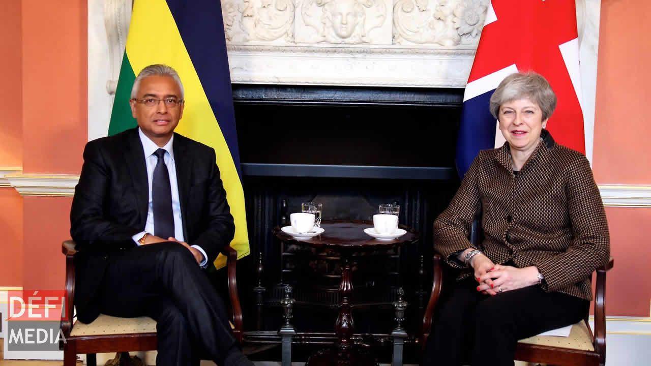Pravind Jugnauth et Theresa May