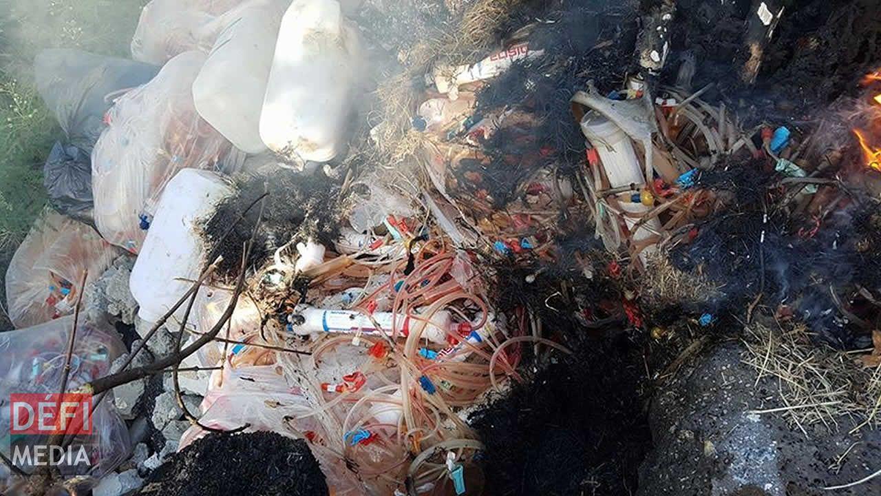 déchets médicaux calcinés
