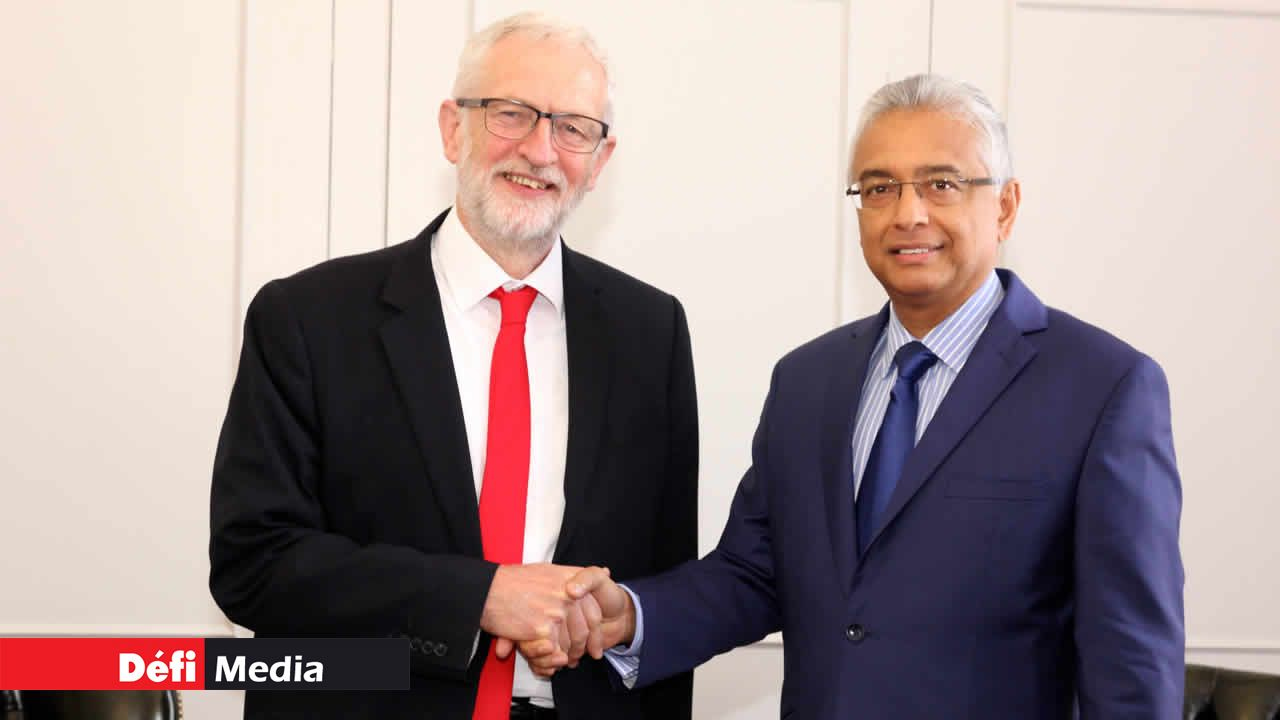 Pravind Jugnauth et Jeremy Corbyn