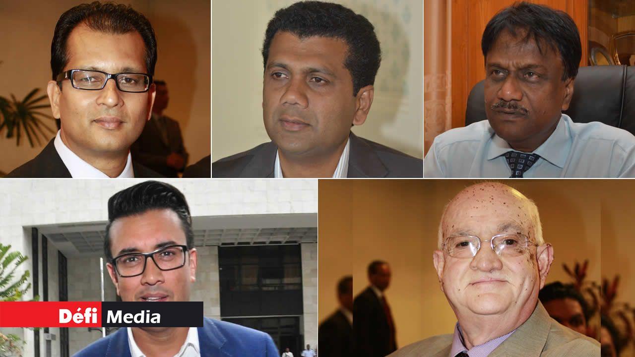 Zouberr Joomaye, Kavi Ramano, Mamade Khodabaccus, Rajesh Bhagwan et Shakeel Mohamed.