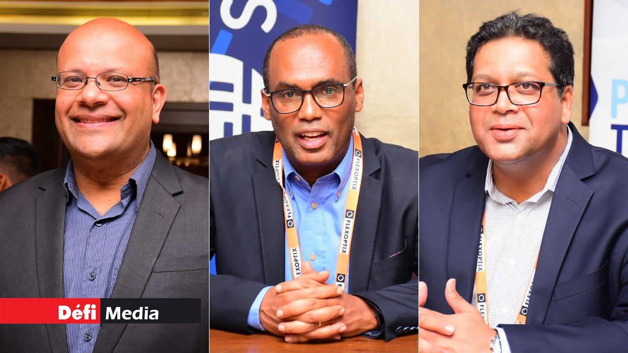 Avinash  Meetoo, Dawit Bekele et Dev Hurkoo.