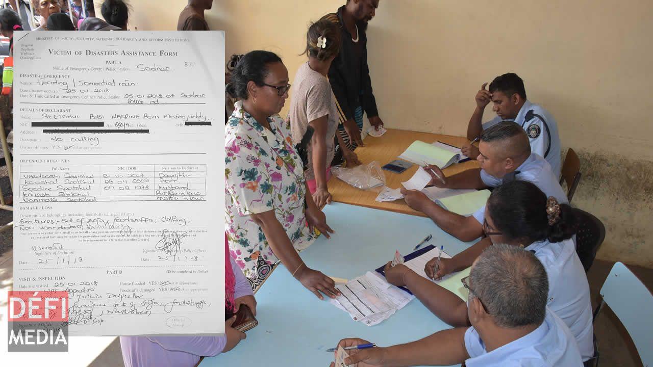 disaster assistance form