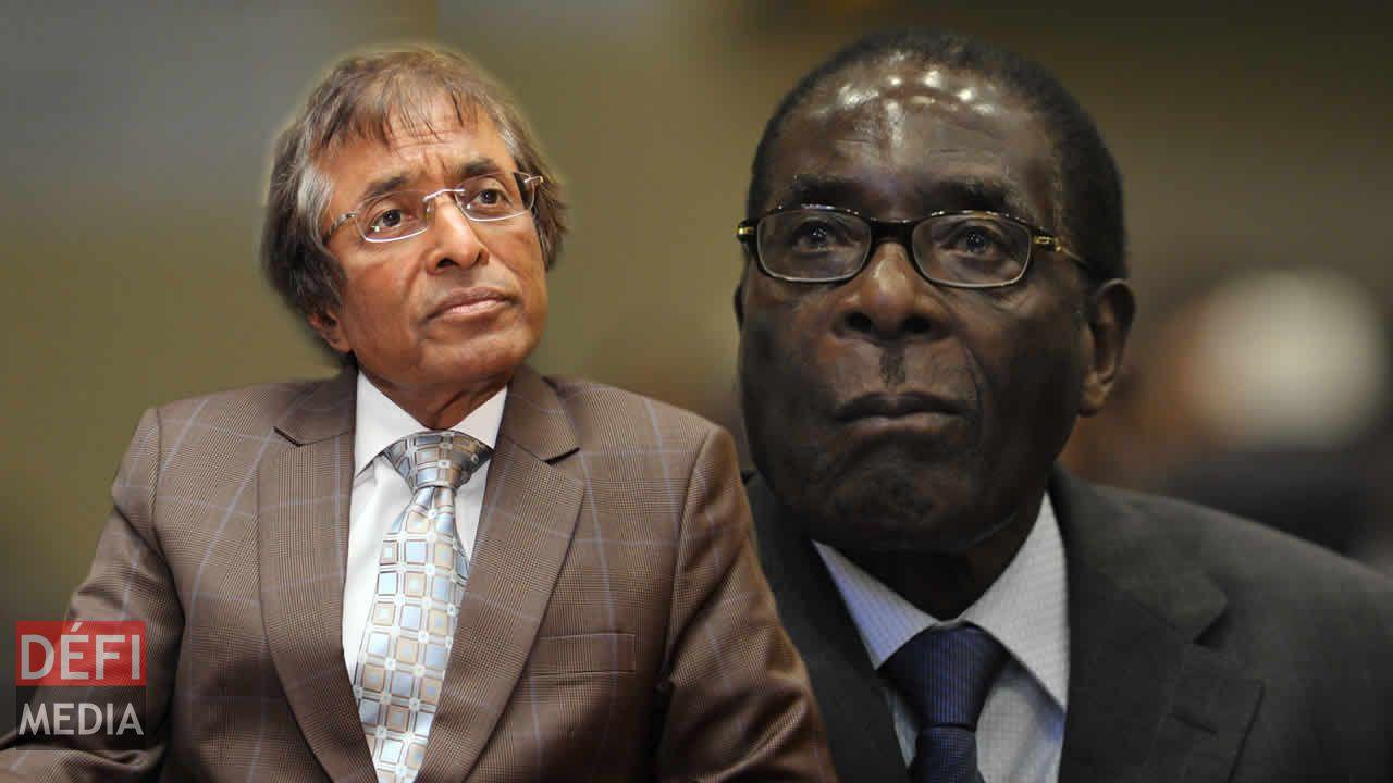 Anil Gayan et Robert Mugabe
