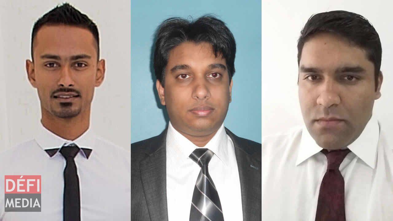 Faizal Sheik Chan, Pratish Sungum et Deelvesh Bunjun.