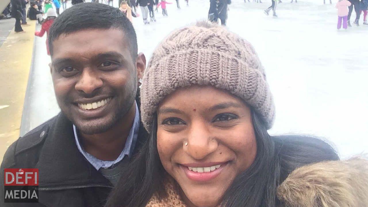 Darvin et son épouse Neelam à Toronto.