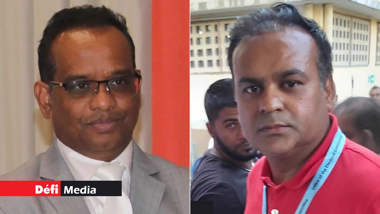 Vikash Nuckcheddy  et Ritesh Ramphul