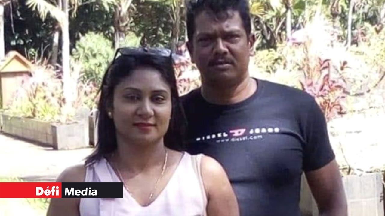Devianee Bheekun et son époux