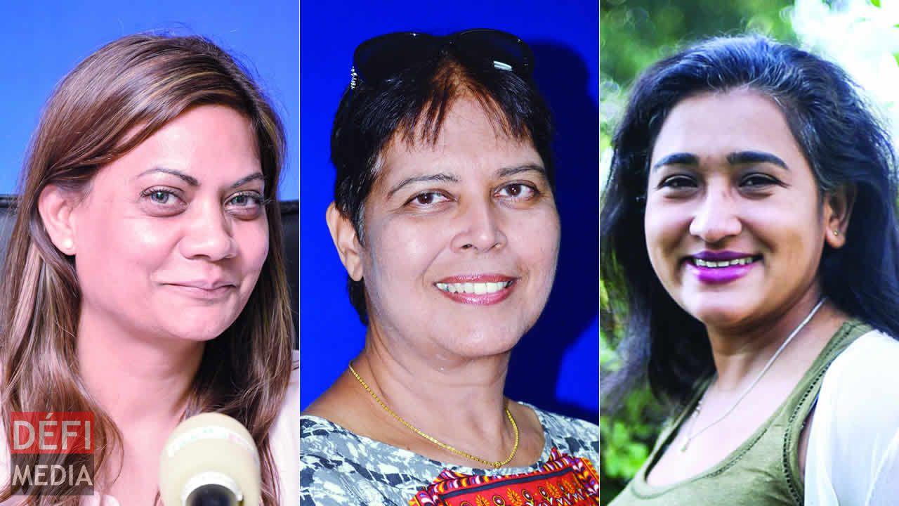 Rukaya Kasenally, Sheila Bunwaree et Manisha Dookhony