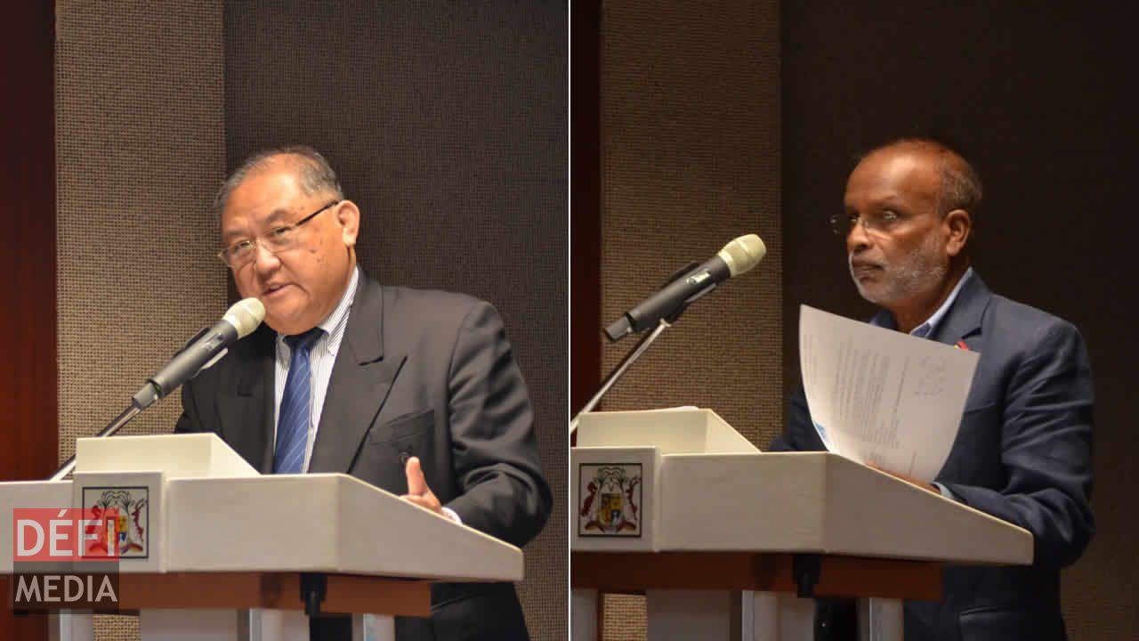 Bernard Sik Yuen et Vijay Naraidoo.